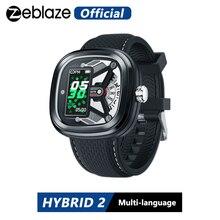 Zeblaze reloj inteligente Hybrid 2 resistente al agua hasta 50M, dispositivo con control del ritmo cardíaco, pantalla IPS de 0,96 pulgadas, elementos industriales con estilo, batería de larga duración