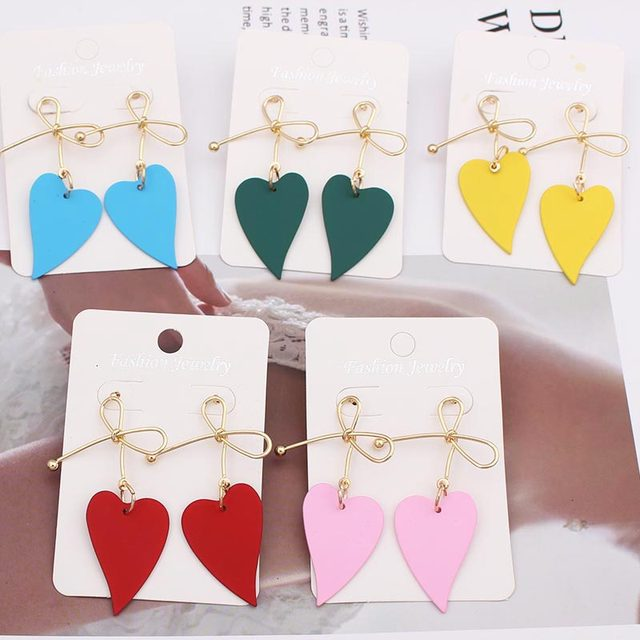 Lovely Heart Metal Earrings  3