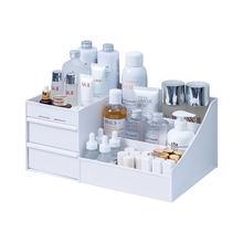 Organisateur de maquillage pour cosmétique grande capacité cosmétique boîte de rangement organisateur bijoux de bureau vernis à ongles maquillage tiroir conteneur