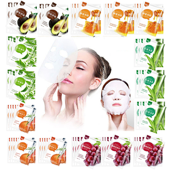 Plant Extract Silk Moisturising Facial Mask Oil-control Anti-Acne Anti-aging Brighten Hydrating Sheet Face Mask image