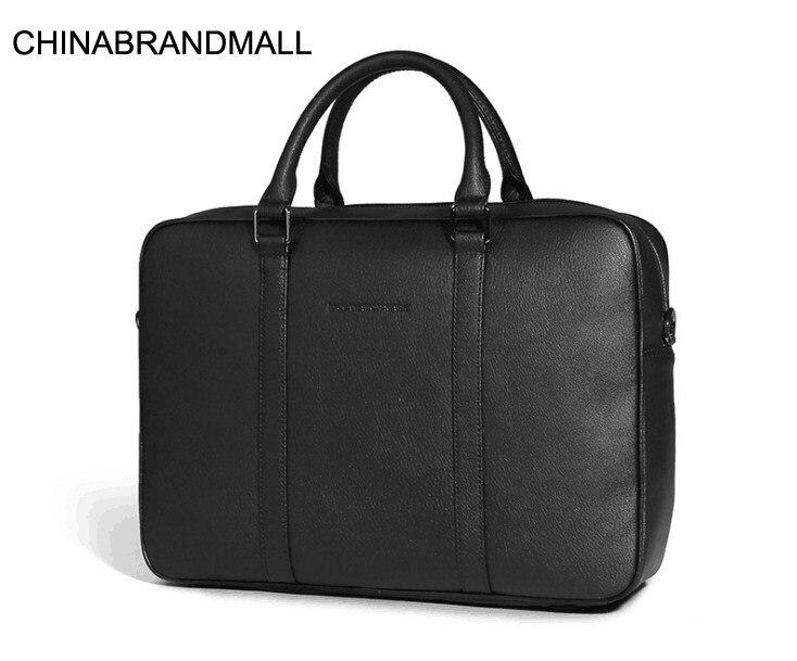 New Cow Skin Men Office Business Laptop Bag Big Briefcase Handbag