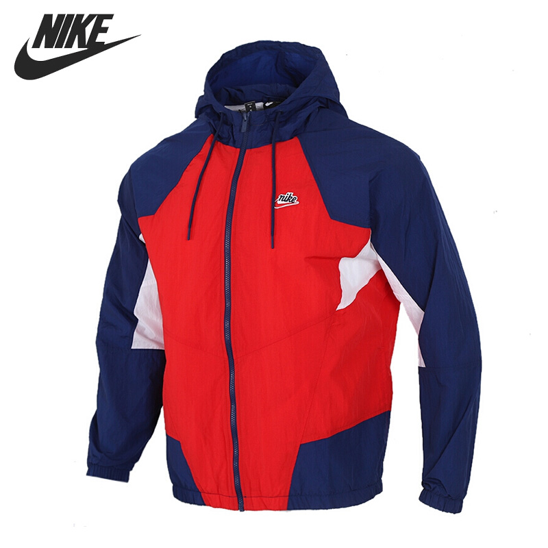 Original New Arrival  NIKE M NSW HE WR JKT WVN SIGNATURE Men's  Jacket Hooded  Sportswear