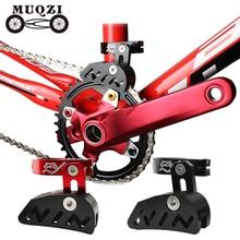 Muqzi自転車チェーンガイドシングルクランクセット28.6 31.8 34.9クランプマウント直接タイプ調整可能なmtb固定山砂利1X