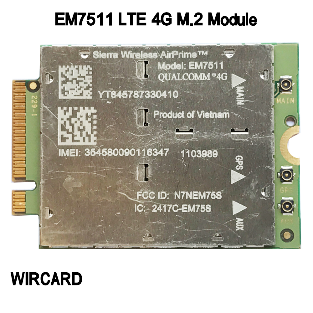 EM7511 M.2 LTE 4G CARD 4G Module FDD LTE TDD LTE Cat12 For Laptop
