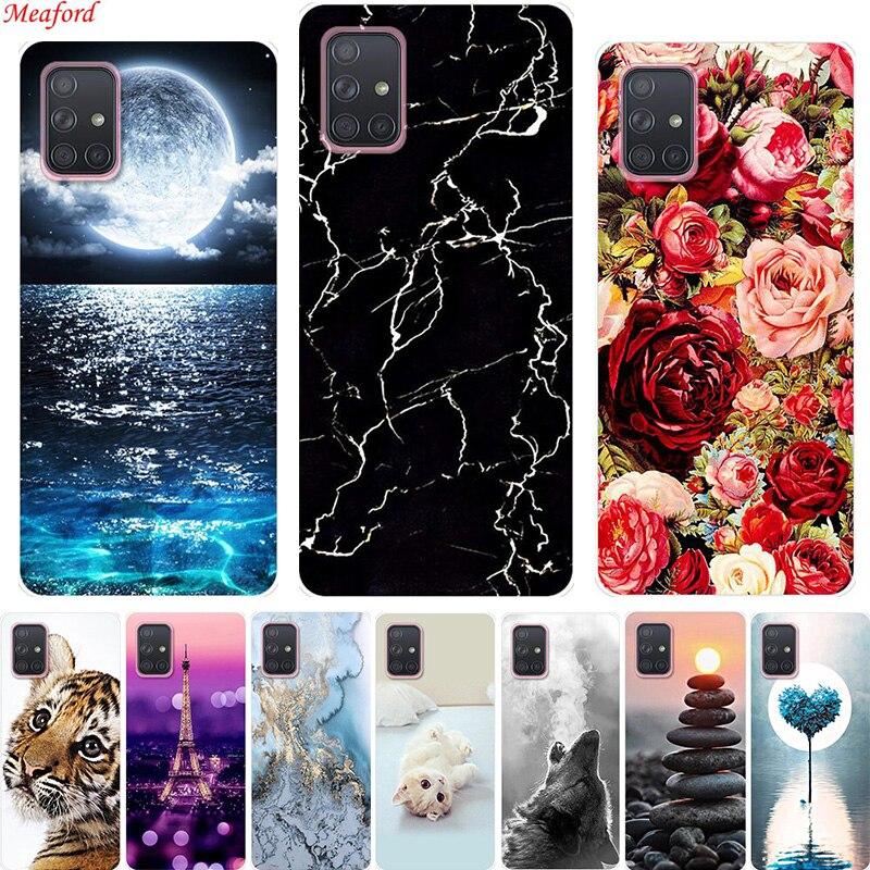 Case For Samsung A71 A51 A 51 Case Silicone Back Cover Soft Case For Samsung Galaxy A51 S20 Ultra A71 Case S20 Plus Coque A 71