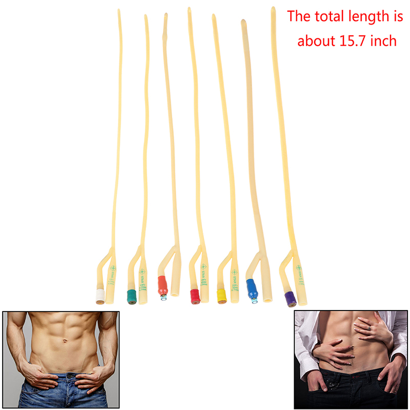 Double Hole Urethral Dilators Male Masturbator Urethral Stretching Sounding Penis Plug For Men Catheters Sounds Sex Toys