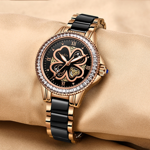 Image 3 - Reloj de oro rosa para mujer, relojes de cuarzo para mujer, reloj de pulsera femenino, regalo para esposa y caja