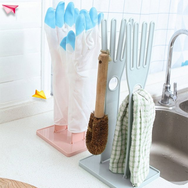 Kitchen Multifunctional Rubber Gloves Drain Rack Towel Storage Holders Drying Stand Creative Kitchen Supplies 2