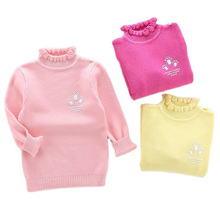 Children Sweater Autumn Winter Clothing Boys Girls Baby New Solid Cute Spring Coat Knitted Kids Crew neck Pullover Sweater