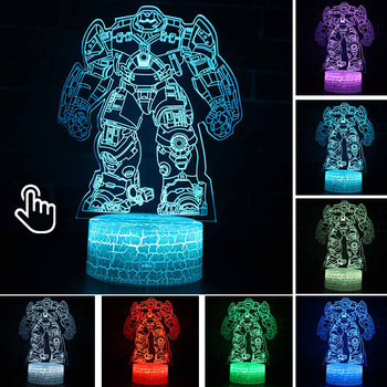 Star Wars Darth Vader Anime Figure Acrylic 3D Illusion LED Lamp Colourful NightLight Death Star Mask Yoda Model Toys Child Gift 36