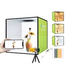Puluz Licht Box Mini Opvouwbare Fotostudio Doos Fotografie Led 30Cm Lightbox Studio Schieten Tent Box Kit & 6 kleur Achtergronden