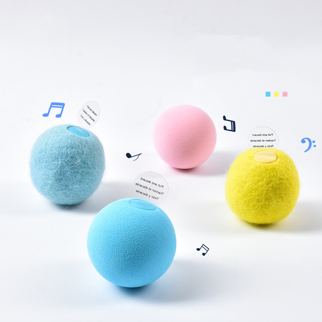 Smart Cat Toys Interactive Ball Catnip Cat Training Toy Pet Playing Ball Pet Squeaky Supplies Products Toy for Cats Kitten Kitty 4