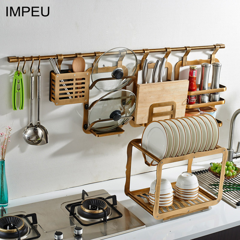 Pot Rack With Hooks Wall Mounted