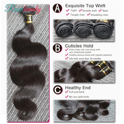 Melodie-tissage en lot 100% naturels brésiliens-OneCut, mèches de cheveux ondulés, vierges non traités, couleur naturelle, 28 30 32 pouces