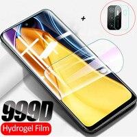Película Poco M 3 Pro, Película de hidrogel Xiaomi Poco M3 Pro 5G cristal suave Poco X3 Pro NFC M3Pro Hydrogel Film Pocophone F3 Protector de pantalla Poco M3 Pro Película protectores