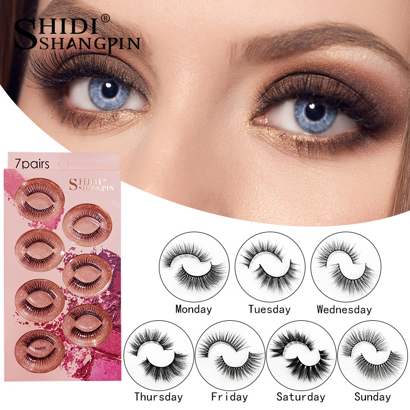 NEW Fiber Long Lasting 7 Pairs Natural False Eyelashes Fake Lashes Long Makeup 3d Mink Lashes Extension Eyelash Mink Eyelashes