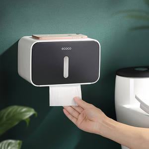 Image 2 - Waterproof Toilet Paper Holder Wall Mounted Toilet Tissue Dispenser Plastic Multi function Portable Toilet Roll Holder Stand