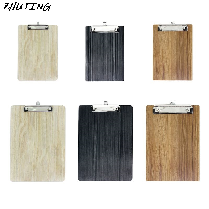 Portable A4 A5 Wooden Writing Clipboard File Hardboard Document Holder Office School Stationery