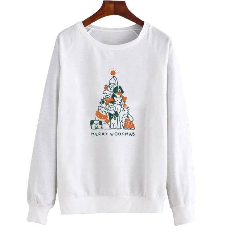 Fr/öhliche Weihnachten Hunde Weihnachtsbaum Sweatshirt Merry Woofmas