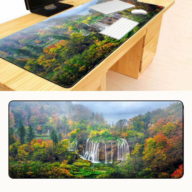 Free Shipping Water Mountain Tree Scenery 700x300x3mm Notbook Computer Mouse Pad Big Gaming Padmouse Gamer For Boy Gift