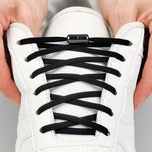 1 paire lacets de verrouillage en métal lacets de chaussure élastiques ronds spécial pas de lacet pour hommes femmes laçage caoutchouc Zapatillas 23 couleurs
