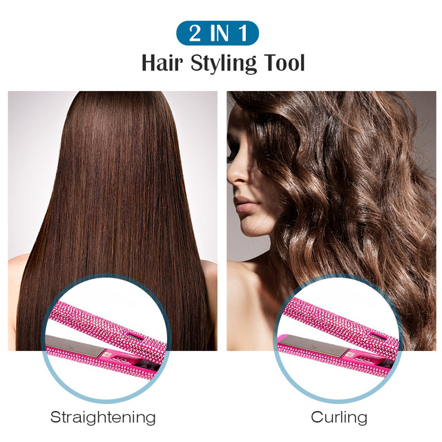 2 In 1 Magic Hair Curler Straightener Dual-use Hair Styling Electric Splint For Hair Curling And Straightening Hair Curling Iron