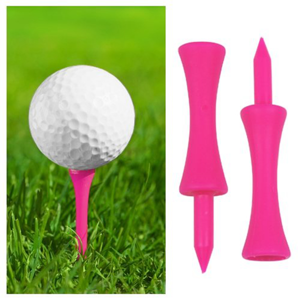 100 Bright Pink Castle Golf Tees