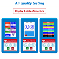 12 in1 Englisch menü Formaldeyde HCHO PM1.0 PM2.5 PM10 Gas Analyzer TVOC Partikel Detector Meter Tester Air Qualität Analysator