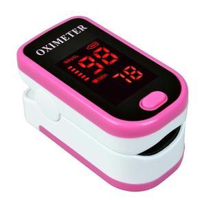 Светодиодный пульсоксиметр с зажимом для пальцев, монитор насыщения крови кислородом, Пальчиковый зажим, тест кислорода в крови, розовый, д...