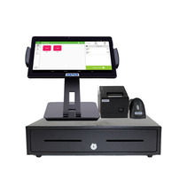 Newest 10 Inch Ipad Cash Register POS System with Printer,Scanner and Cash Drawer HS-ST01D 2 position lock samll cash drawer flip top cash register box drawer for pos peripherals printer reasonable price