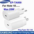 EP-TA800 оригинальный Samsung Note10 супер быстрое зарядное устройство мобильного телефона зарядное устройство 25W ЕС/США Подключите адаптер питания ...