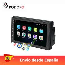 Podofo Auto radio 2 din 7 ''Android 8.1 IOS/Android spiegel link touch screen mit Bluetooth WIFI GPS FM radio Unterstützung Hinten Kamera