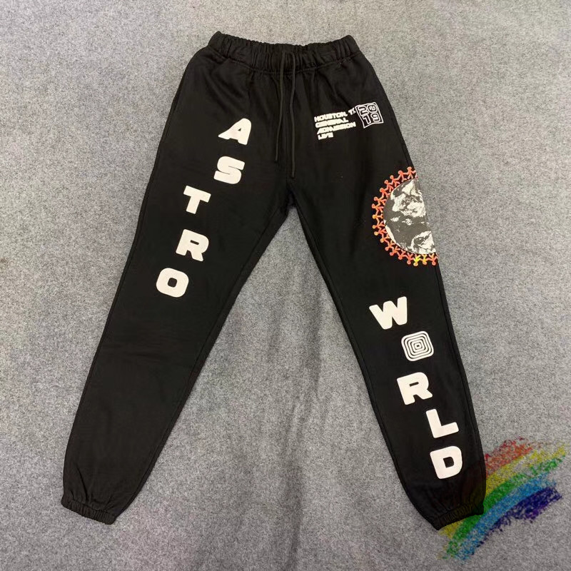 Travis Scott Cactus Jack Festival World Globe Sweatpants Women Men ASTROWORLD Pants Drawstring Joggers Sweatpants