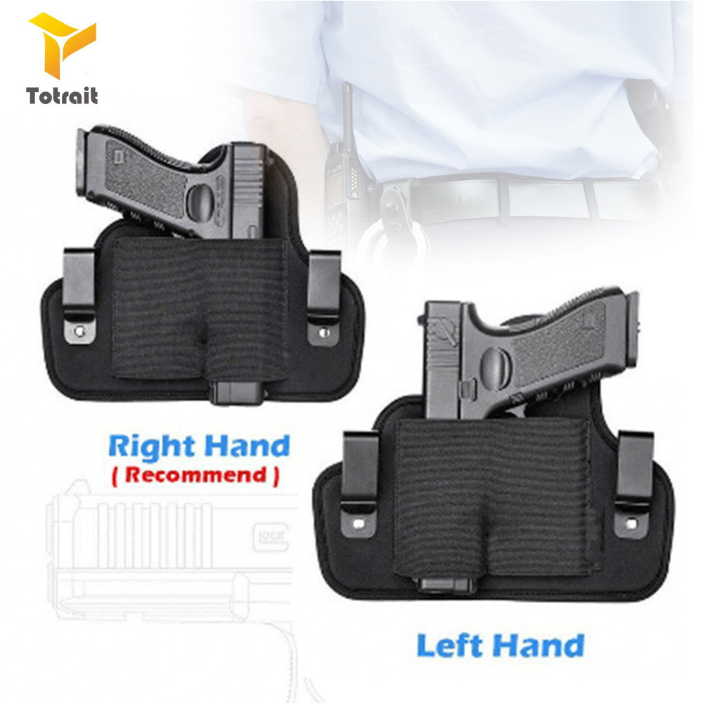TOtrait Concealed Handgun Belt Holster Ideal 6 Position Right/Left for small middle size Hand handguns Pistol Waist Pouch Magazi image