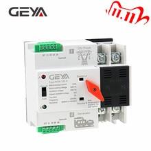 GEYA Din Rail 220V 2Pole ATS Power Automatic Transfer Switch 63A 100A 50/60Hz PC Grade ATSE