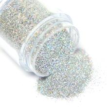 Fine Glitter Pigment-Powder Sugar Nail Shining Holographic Silver 8g