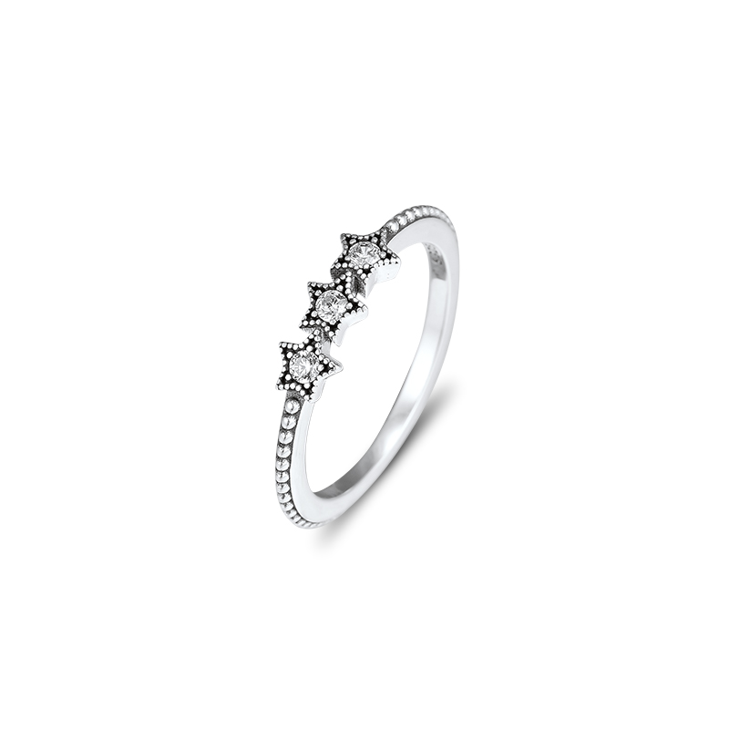 CKK Silver 925 Jewelry Celestial Stars Ring For Women Fashion Gift Original Sterling Silver Ring