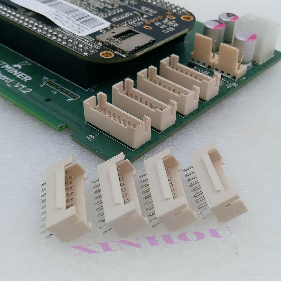 25Pcs BTC BCH LTC ZEC ETH DCR Miner Connector 2x9P Male Socket Straight Pin Suitable For Asic Miner Antminer S9j S9K S9 R4 Z9 M3