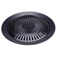 Non-stick 13 inch Smokeless Indoor Stovetop Barbecue BBQ Grill Kitchen Pan Griddle kitchen equipment smokeless energy saving stainless steel electric induction griddle machine electrical contact grill