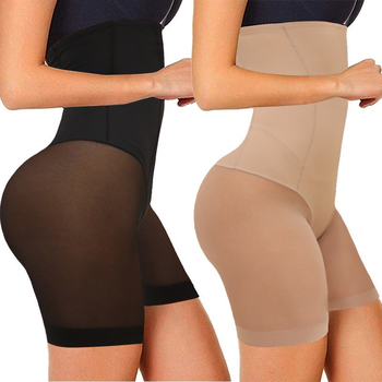 Women Seamless Plus Size High Waist Control Panties Shapewear Thigh Slimmer Body Shaper Smooth Slip Shorts under Skirt