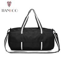 TIANHOO Nassen und trockenen trennung sport fitness handtasche männer tragbaren reise große kapazität gepäck tasche
