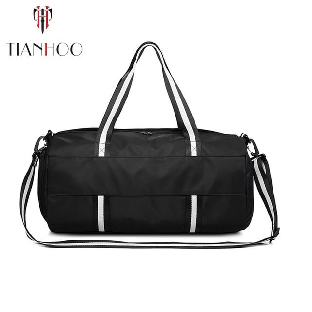 TIANHOO Wet and dry separation sports fitness handbag men portable large capacity travel luggage bag