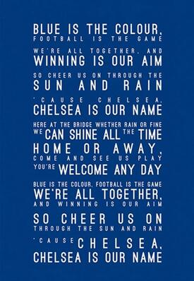 More Style Choose Chelsea FC Inspired Song Lyrics HD Art Print Silk Poster Home Wall Decor 24x36inch image