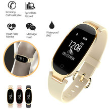 купить S3 Fashion Smart Band Bracelet Girl Women Heart Rate Monitor Wrist Lady Female Fitness Tracker Wristband for Android IOS по цене 1623.72 рублей