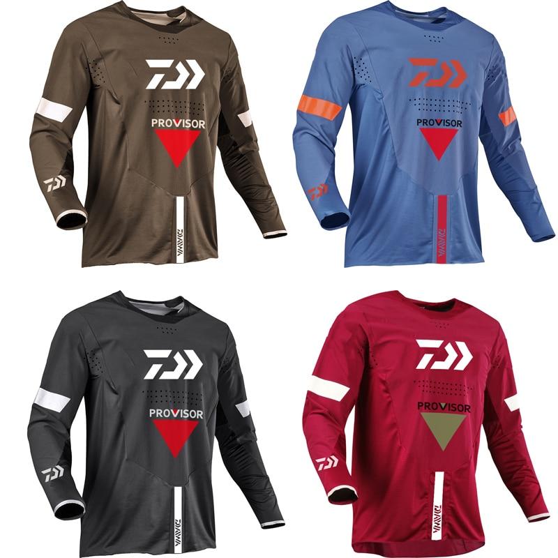 2021 Для мужчин Велоспорт Джерси MTB Велоспорт для верховой езды футболка длинный рукав, базовый гардероб мотоциклетные Топы