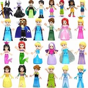 Mailackers princesse jouet loisirs Selle Mulan Anna Elsa cendrillon fée marraine Olivia bloque amis Mailackers enfants jouets(China)