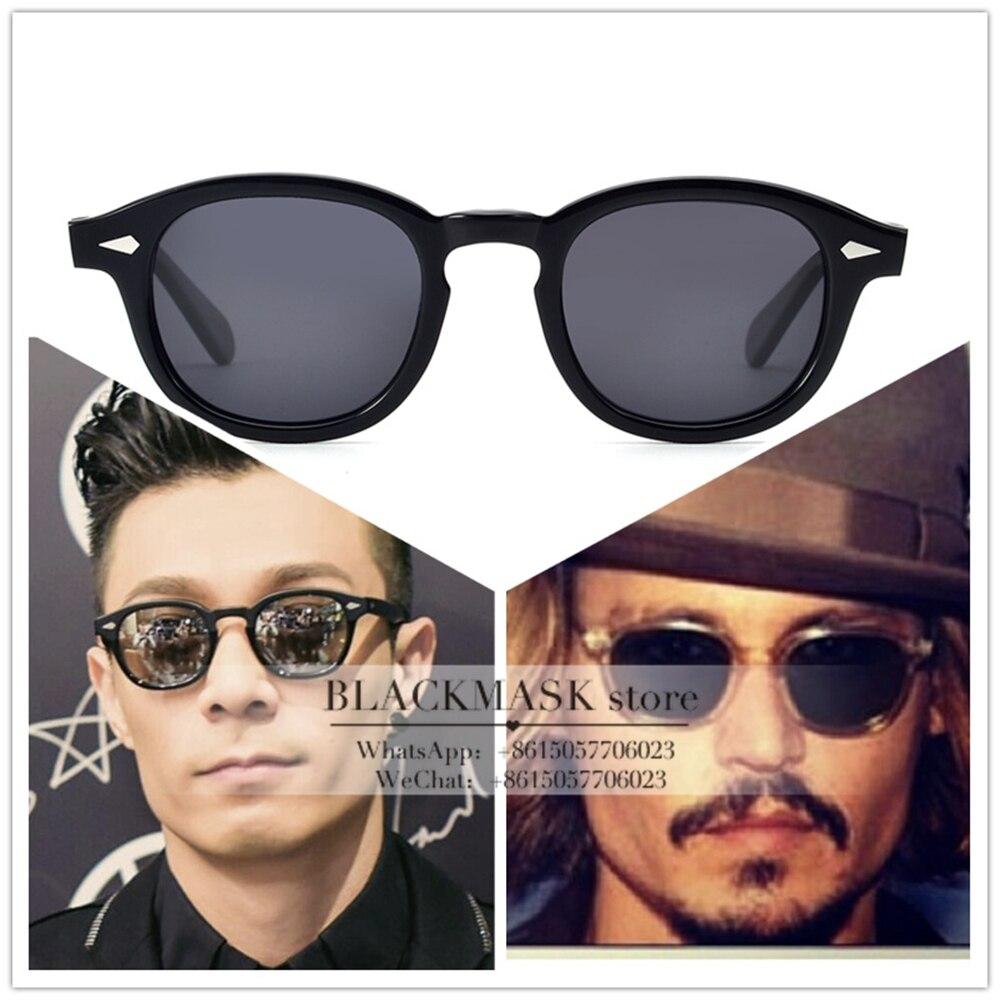 Óculos de Sol do Vintage Lentes de Óculos de Sol Alta Qualidade Personalizado Johnny Depp Estilo Retro Polarizado Óculos Pode Ser Prescrição