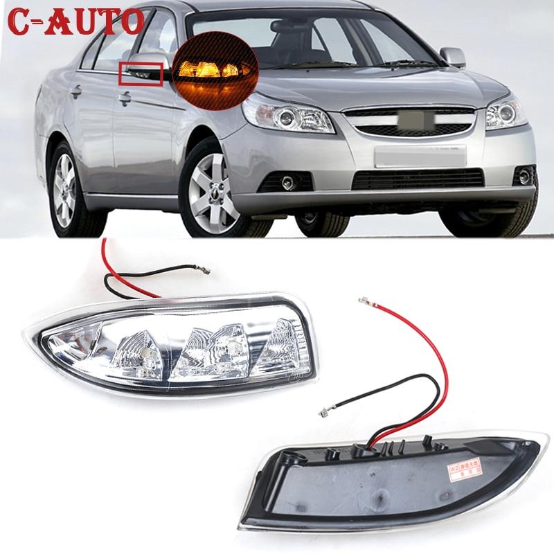 Автомобиль левый и правый светодиодный поворотник светильник Зеркало заднего вида лампа-мигалка ретранслятор сигнала для Chevrolet Epica 2008 2009 2010...