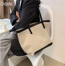 New Fashion Canvas Shopping Bag Ladies Handbags Large Capacity Ladies Shoulder Bags Famous Designer Casual Handbag Shoulder Bags