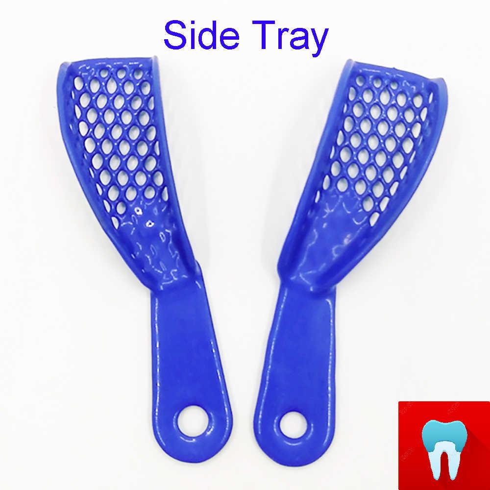 1 סט שיניים רושם מגש מחזיק מעמד ביצוע מסגרת רופא שיניים מכשיר רפואת שיניים חומרים רופא שיניים כלים עם 10 pcs מגש